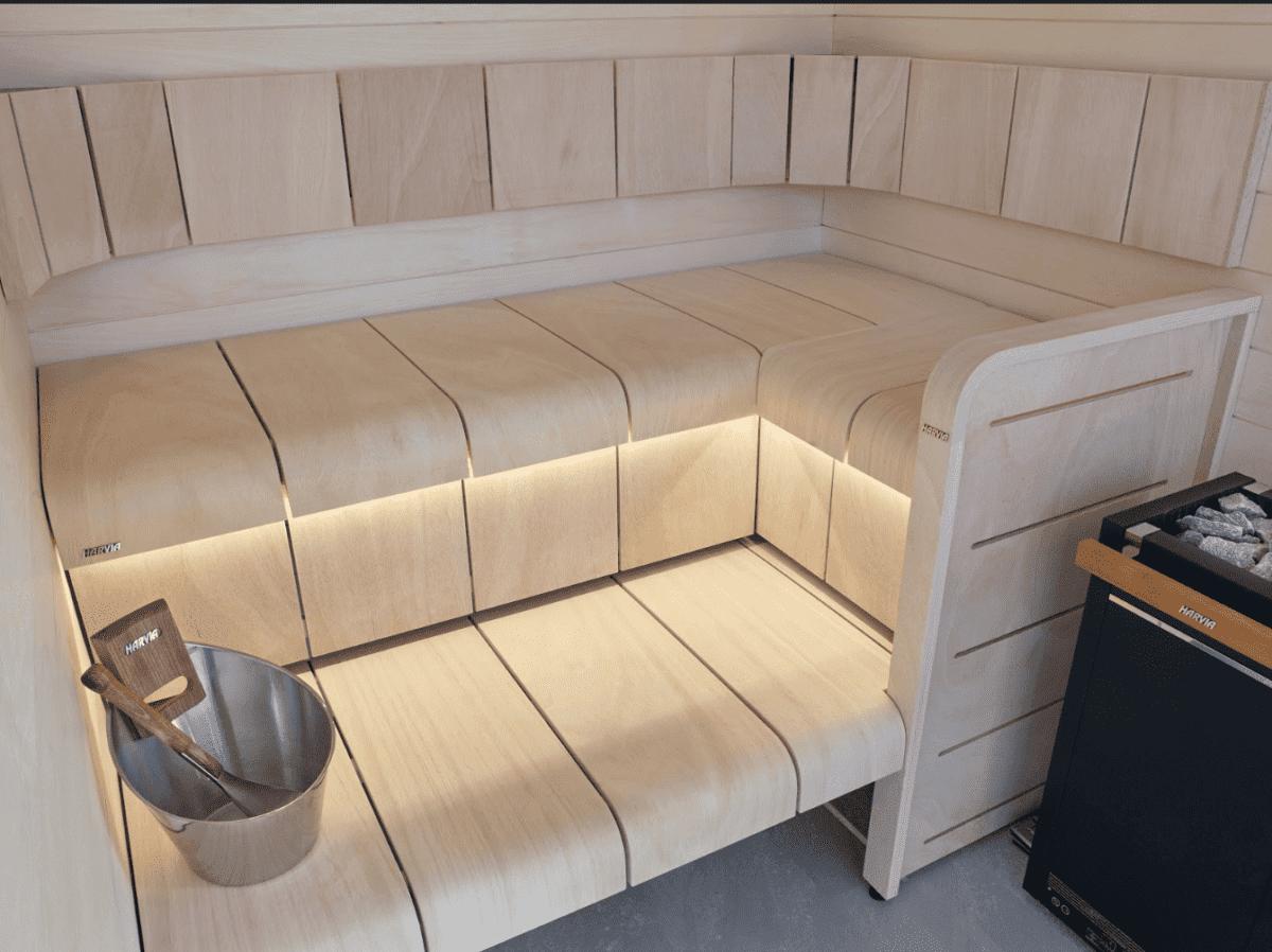 installing an outdoor sauna